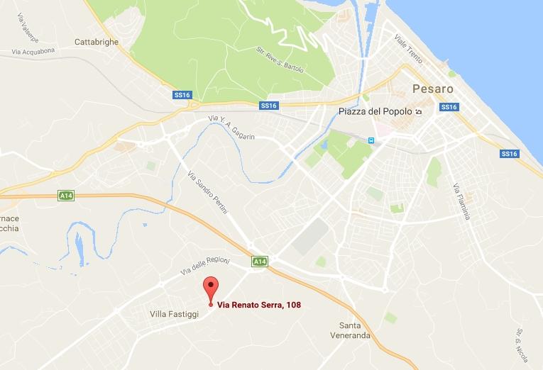 Mappa Google Activa Kombat, via Serra 108 Pesaro